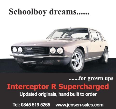 Jensen Interceptor R advert MotorStars Investment