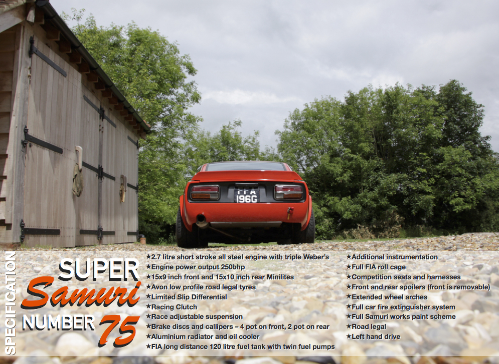 MotorStars Issue Five Super Samuri 240Z Spec