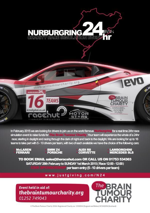 Nurburgring 24 Hour Charity Race - Brain Tumour Trust 2014