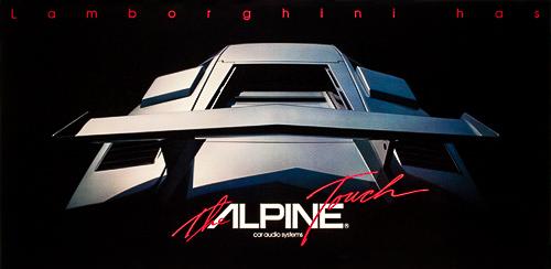 Lamborghini Alpine Vintage Posters Motorstars