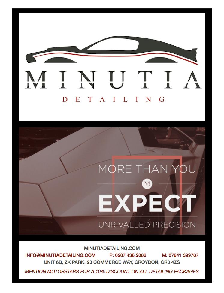 MotorStars Issue Twenty-One Minutia Detailing Advert