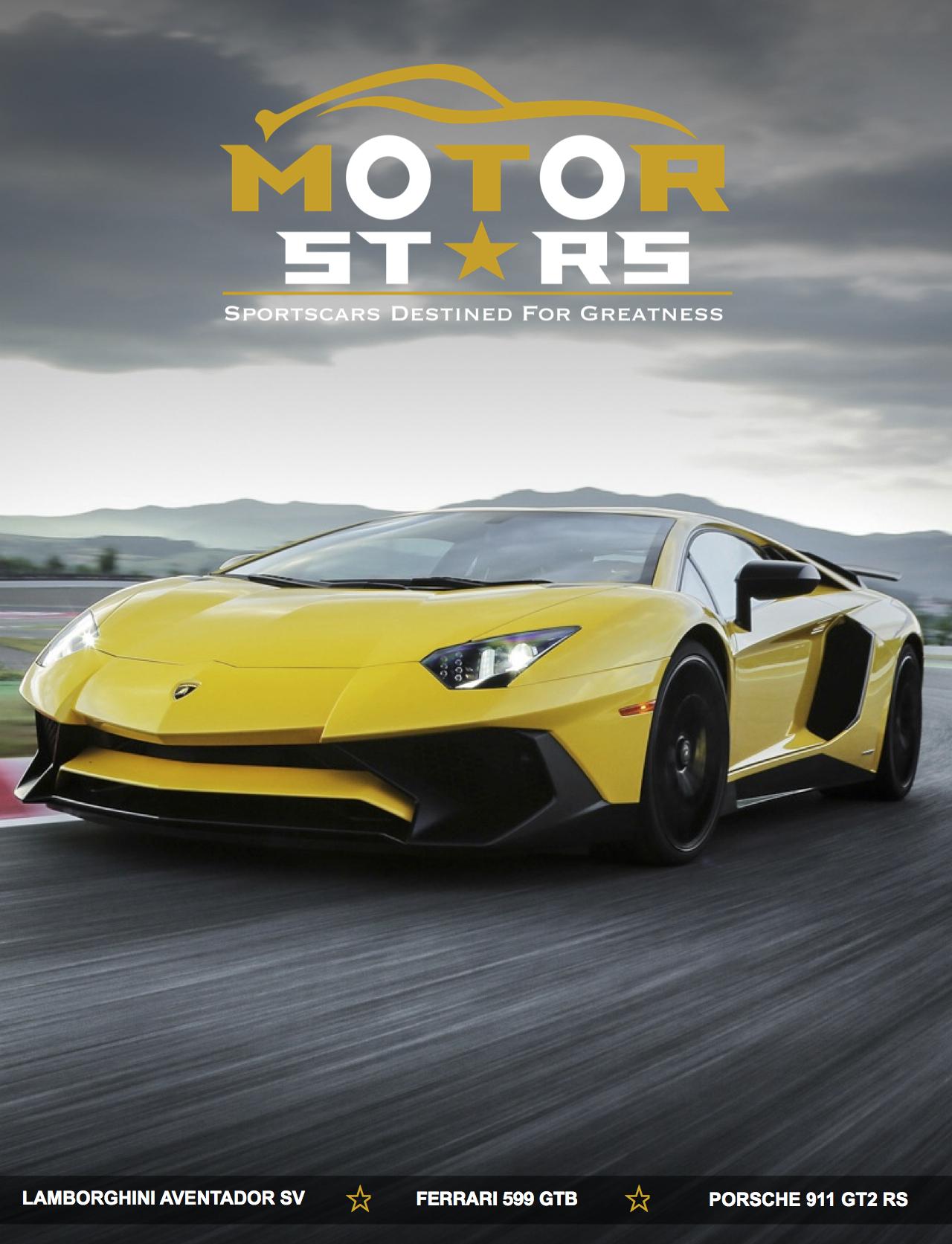 MotorStars-Issue-Twenty-Nine-Front-Cover-Lamborghini-Aventador-LP750-4-Superveloce Stunning Porsche 911 Gt2 Rs Vs Lamborghini Aventador Cars Trend