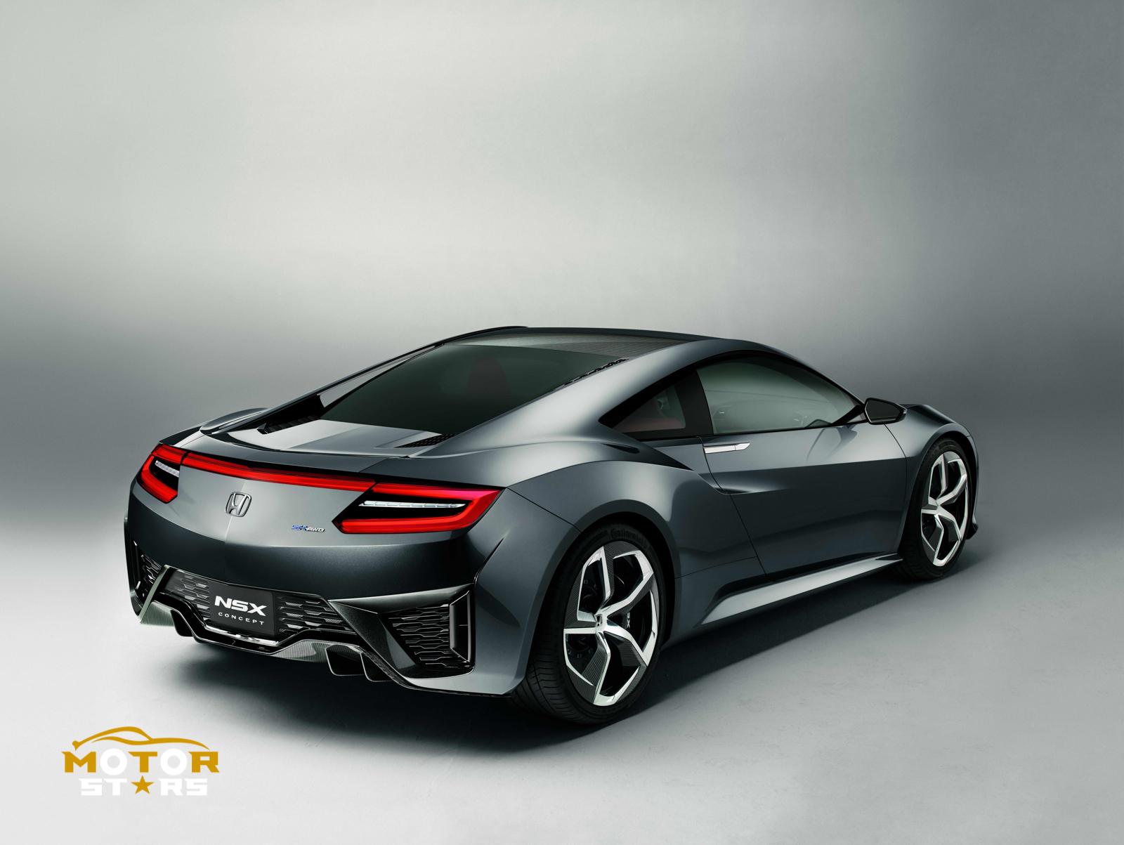 Honda Acura Nsx 2015 Hybrid Electric Supercar 21 2013 Concept Rear View Motorstars